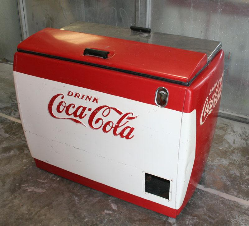 Vintage coke coolers just arrived clean cut for 1 door retro coke cooler