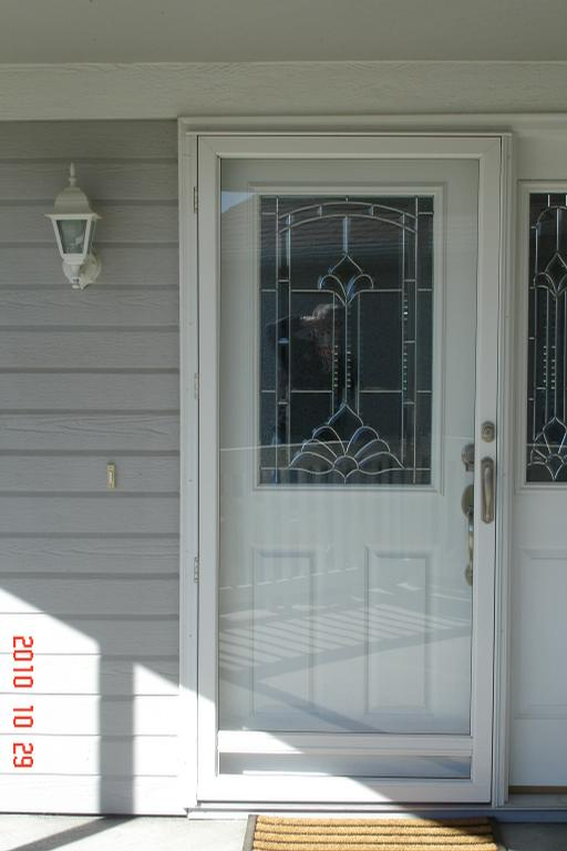Aluminum Storm Door King One Lite From Columbia Glass And Window