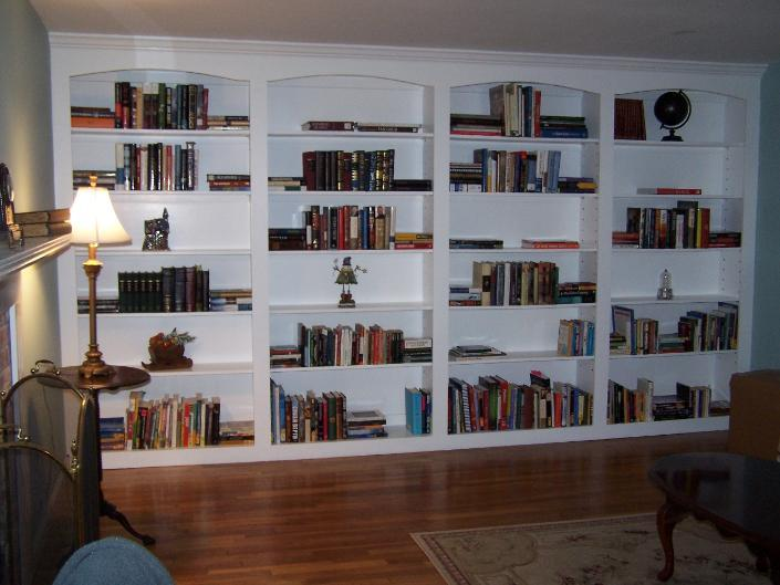 Floor To Ceiling Bookshelves Plans: Built-in Bookcase From Homestead Hardwood Furniture In