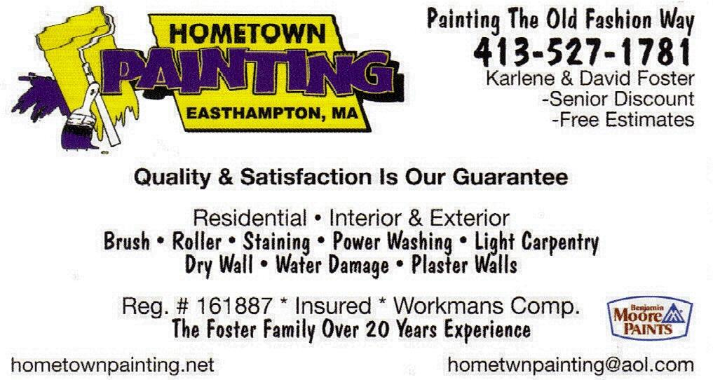 BUSINESS CARD NEW From Hometown Painting In Huntington MA