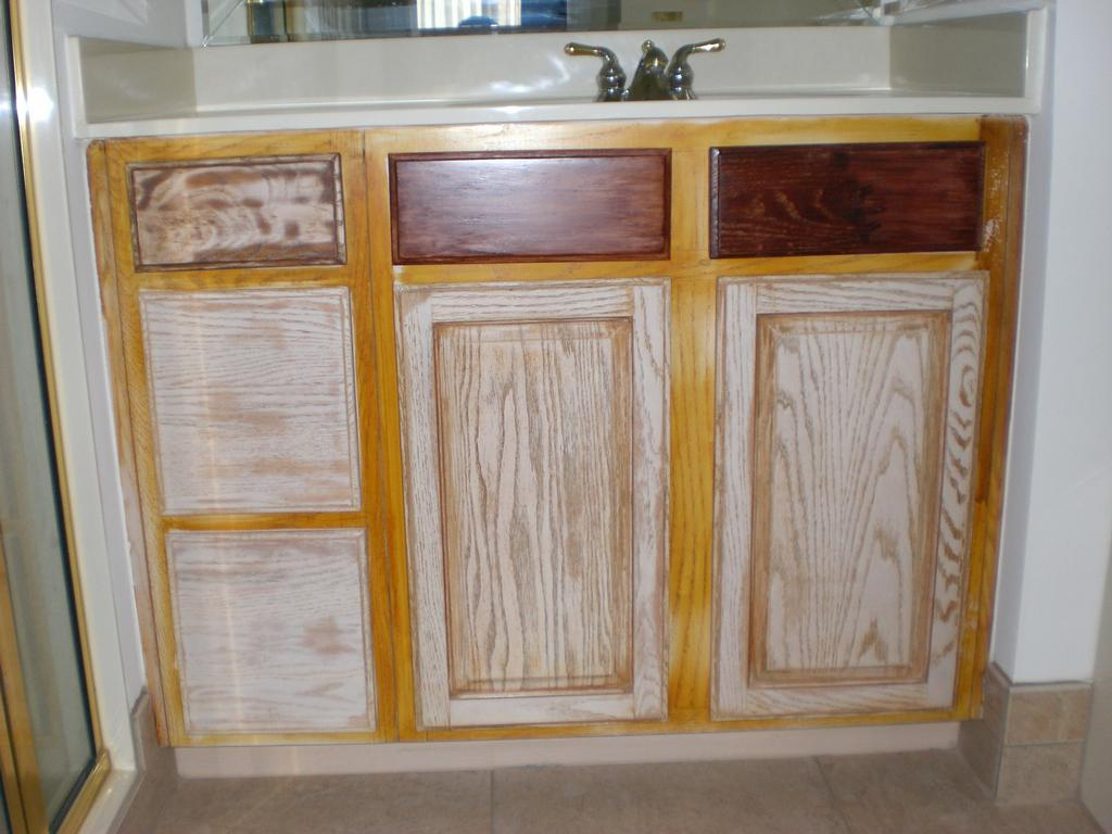 Oak Pickled Cabinet from Bull Restoration in Raleigh, NC 27614