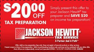 Jackson hewitt discount coupons