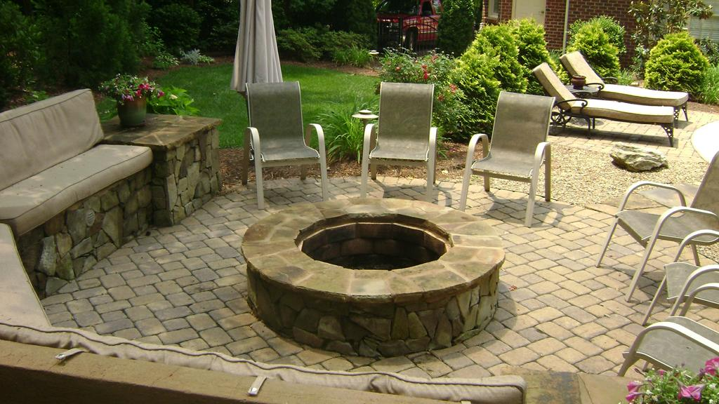 matthews fire pit jpg from fine edge landscape design in