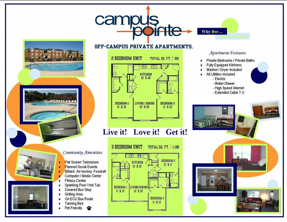 CP Board 3. Model Apartment 001 By Campus Pointe Apartments