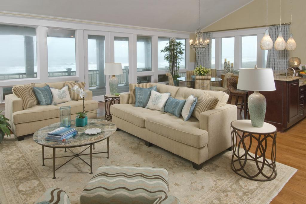 Steiner design interiors raleigh nc 27609 919 782 0307 for Beach themed living room ideas
