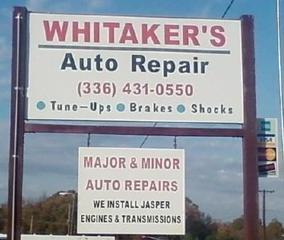 Whitaker's Auto Repair - Trinity, NC
