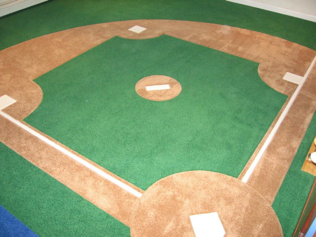Baseball Diamond Area Rugs