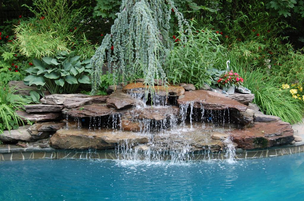 Landscape Pool Design Waterfall