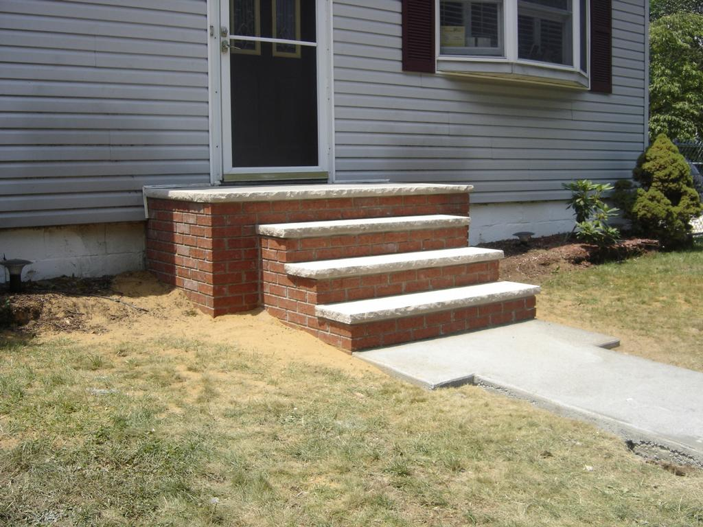 Brick Front Steps Keansburg From Jgw Masonry In Long