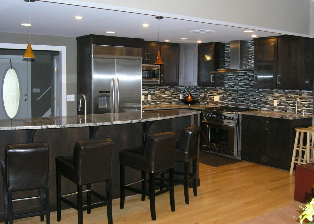 Dark Rift Oak Kitchen From Dovetail Designs Inc In Bergenfield NJ 07621