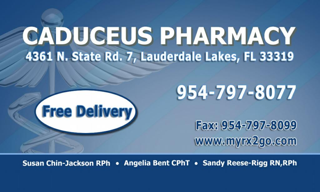 Pharmacy ft lauderdale caduceus pharmacy fort for Business cards fort lauderdale