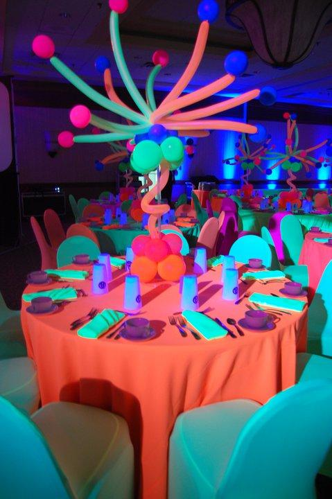 Neon Glow Centerpiece from Balloon Crew Inc in Cleveland, OH 44125