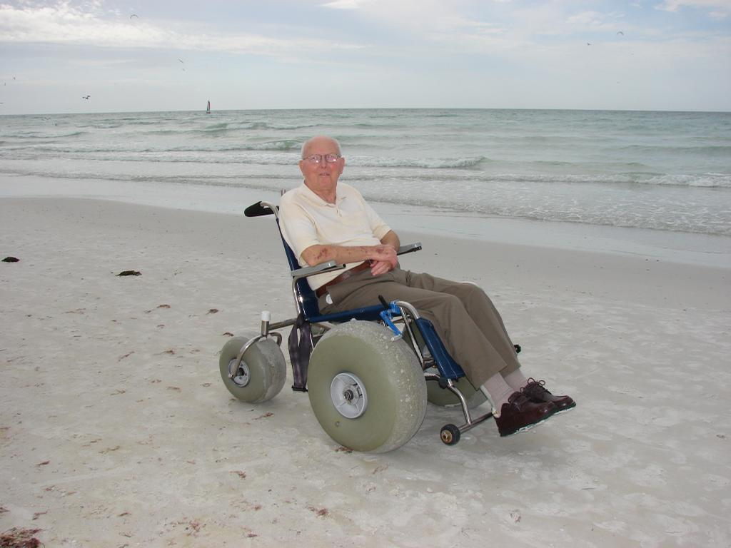 Beach Wheelchair From Siesta Sports Rentals In Sarasota