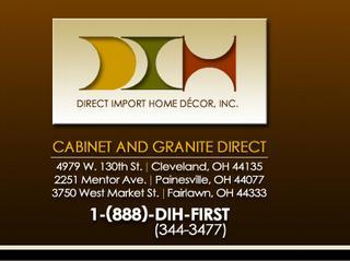 Direct import home decor inc dba cabinets granite for Import direct inc
