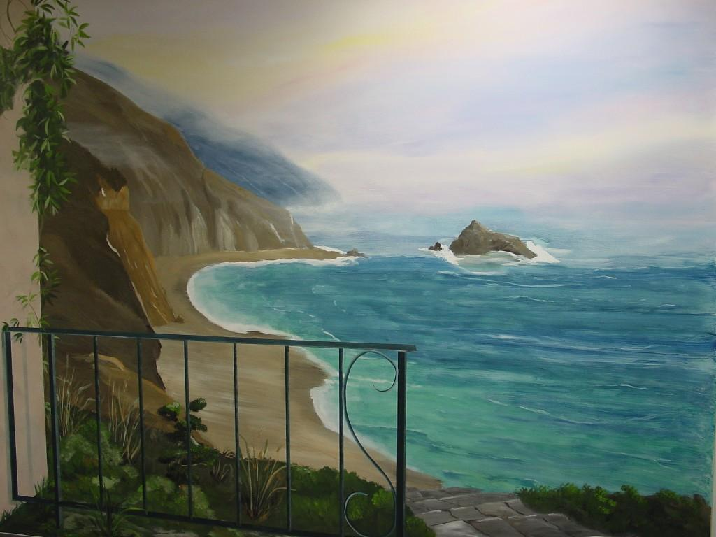 Pictures for melissa barrett paint design wall murals in for Beach mural painting