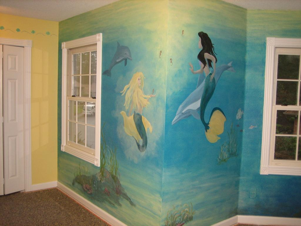 Melissa barrett paint design wall murals portland or for Bedroom mural painting