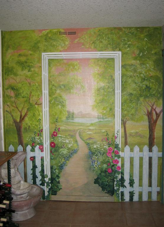 garden mural ideas wall murals pinterest
