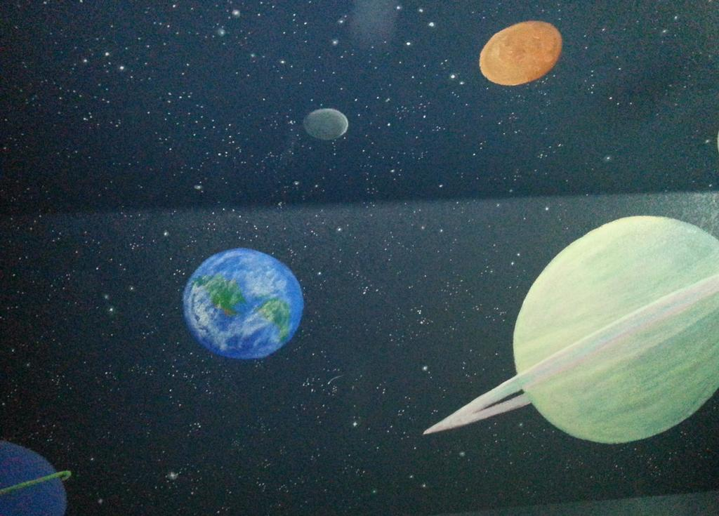 solar system on ceiling paint - photo #2
