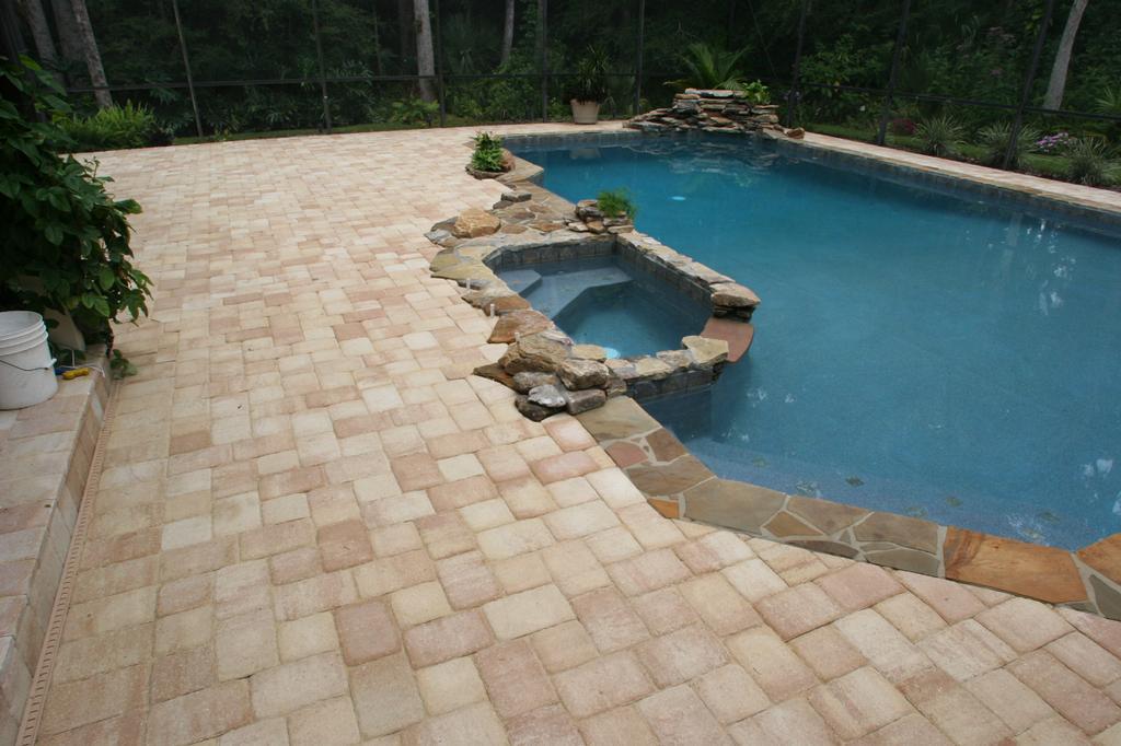 Pool deck paver from orlando brick pavers inc in orlando for Best pavers for pool deck