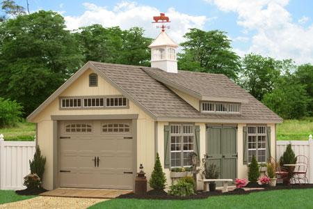 Fancy 1 Car Pre Fab Garage For Sale From Sheds Unlimited
