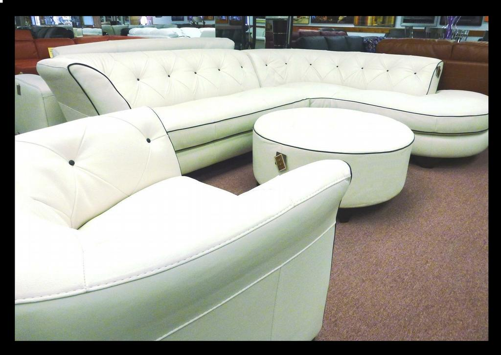 Presidents day furniture sale natuzzi white leather jpg for White couches for sale