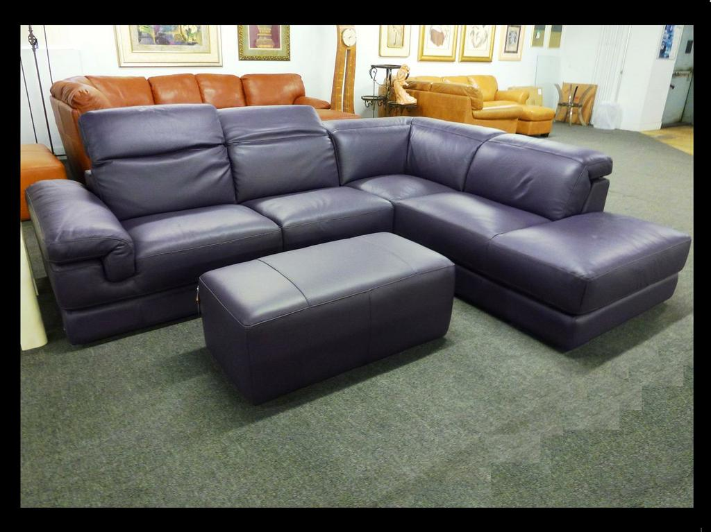 Italsofa Purple Leather Sectional I328 Jpg From Interior Concepts Furniture In Philadelphia Pa