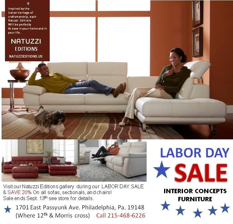 Labor Day Furniture Sale Natuzzi Editions Leather Sofas From Interior Concepts