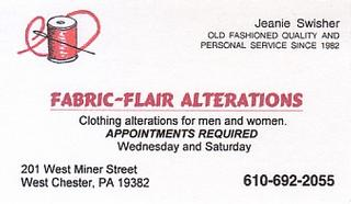 Fabric-Flair Alterations - West Chester, PA