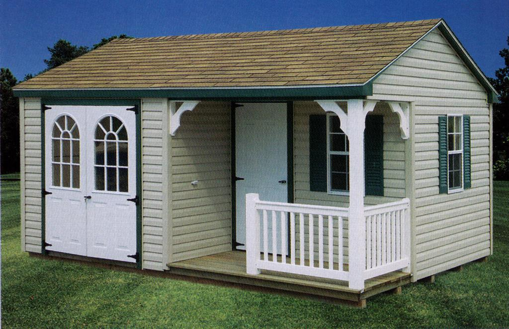 Oko Bi: Storage shed with porch plans