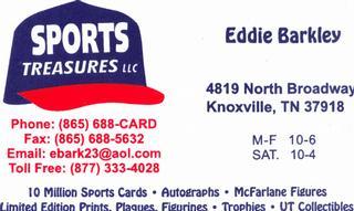 Sports Treasures Llc - Knoxville, TN