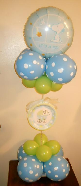 Baby boy shower balloon decorations party favors ideas for Balloon decoration for baby shower