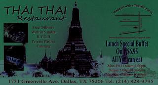 Thai Thai Restaurant - Dallas, TX