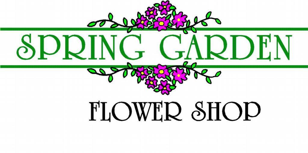 Spring Garden Logo From Spring Garden Flower Shop In San