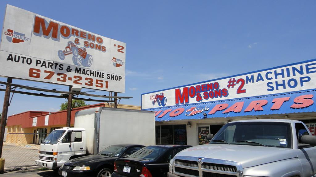 Pictures for moreno sons automotive parts machine shop for Motor machine shop near me