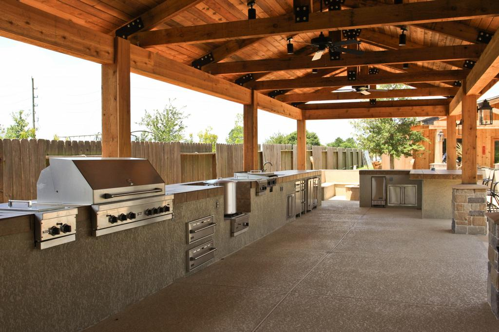 outdoor kitchen designs with roof outdoor kitchens houston homes decoration tips 555