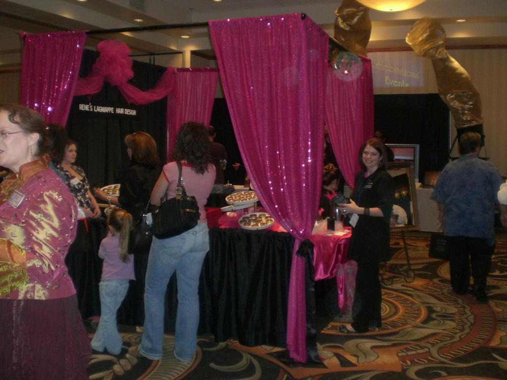 Our booth at the Bridal Expo Allen,Tx.2008 from Renes Lagniappe