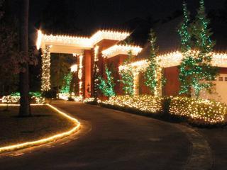 Houston Christmas Exterior Lighting Installers 832-515-9433 | The