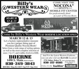 Billy's Western Wear - Boerne, TX