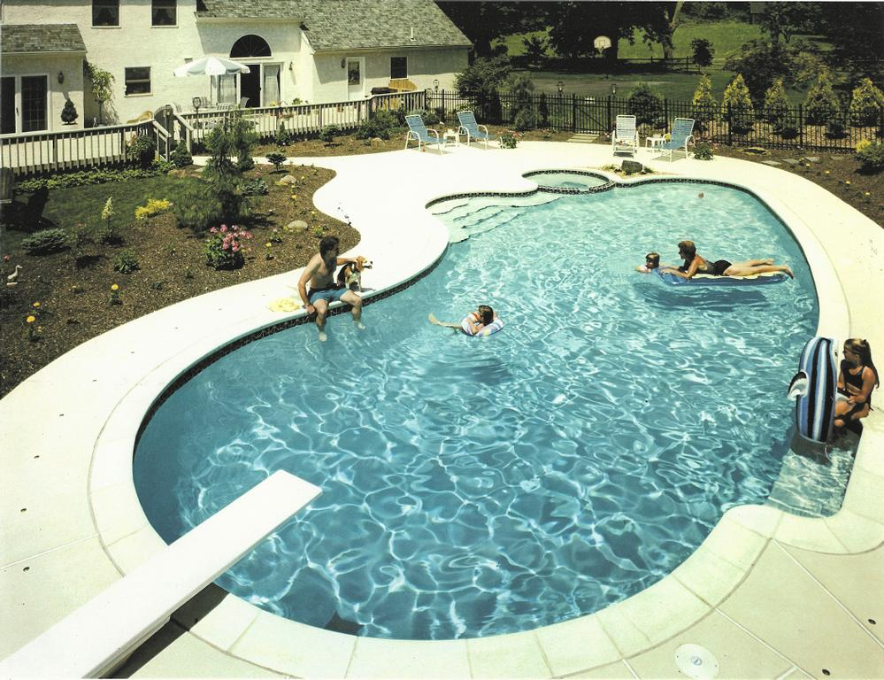 The Pool With Diving Board In Use From Anchor Backyard Pools Spas Inc In Lehigh Acres Fl 33936