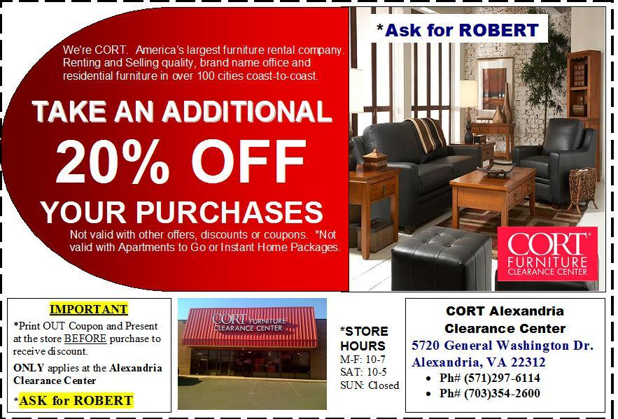 Cort Furniture Rental Clearance Center Alexandria Va 22312 703
