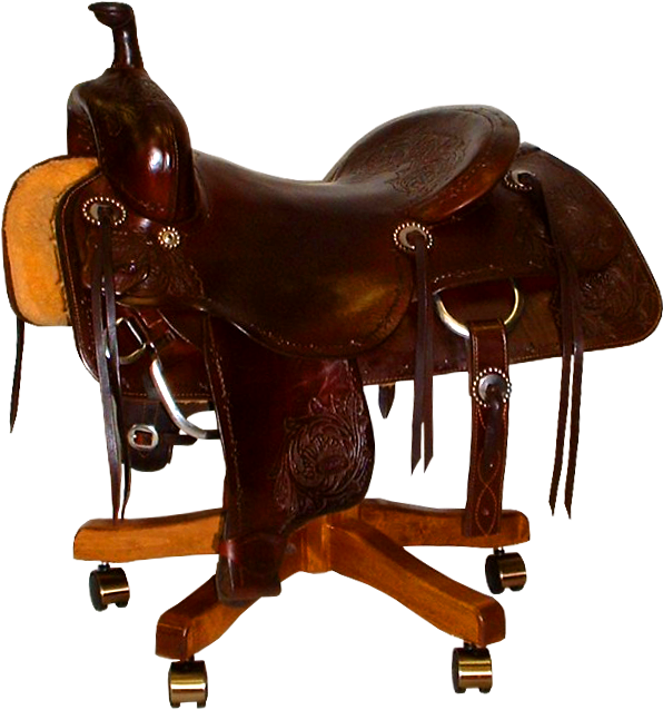 Saddle Chair From C W Wiley Custom Saddles In Glen Allen