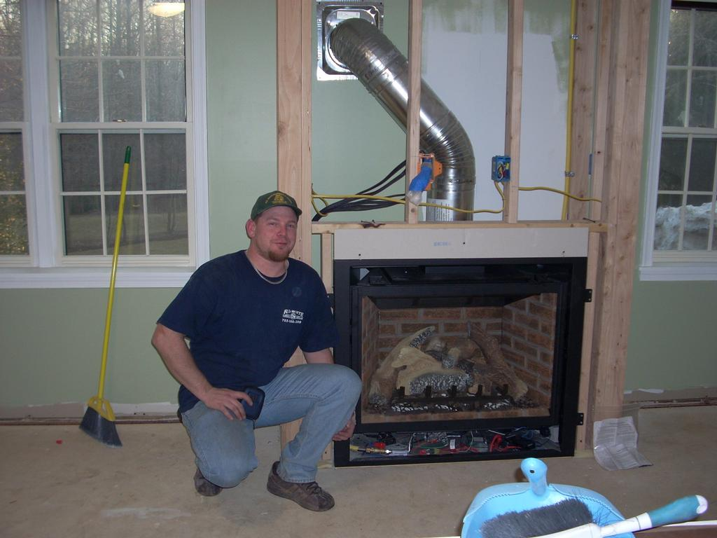 Gas fireplace from scratch from r d white plumbing hearth llc in gas fireplace from scratch teraionfo