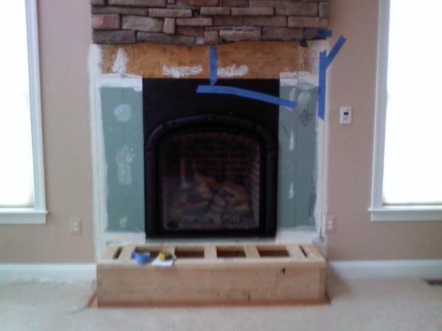 Custom gas fireplace - R D White Plumbing & Hearth LLC - Stafford VA 22556 703-960-6300