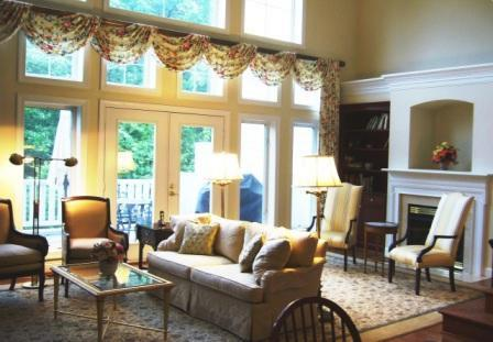 Tv Family Room Design Shutters Floor Plan Fireplace
