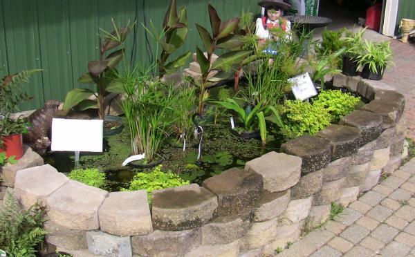 Landscaping brick ponds