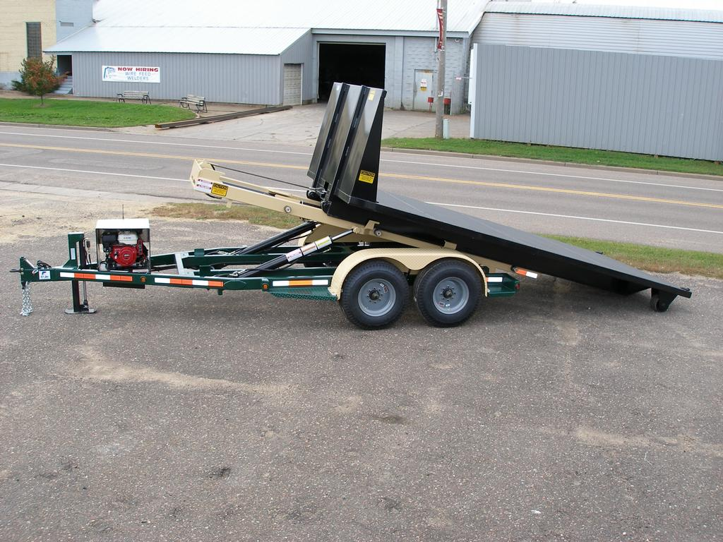 Roll Off Trailer With Flatbed Jpg From Nedland Industries