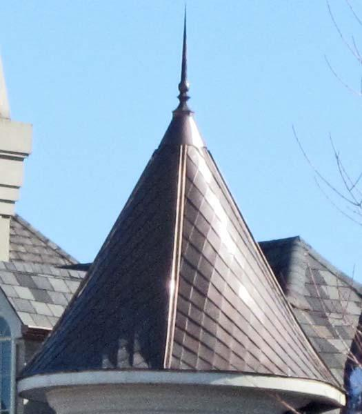 Copper Turret Conical Dome Roof Finial Bl From Rutland