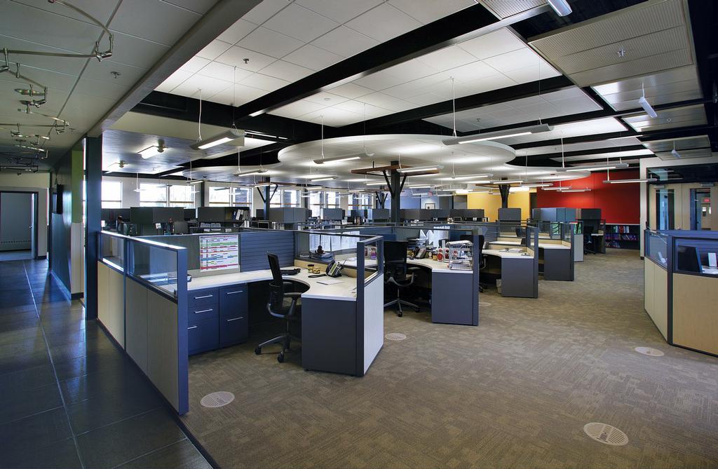 U s venture open office area from hoffman llc in for Office 606 design construction llc