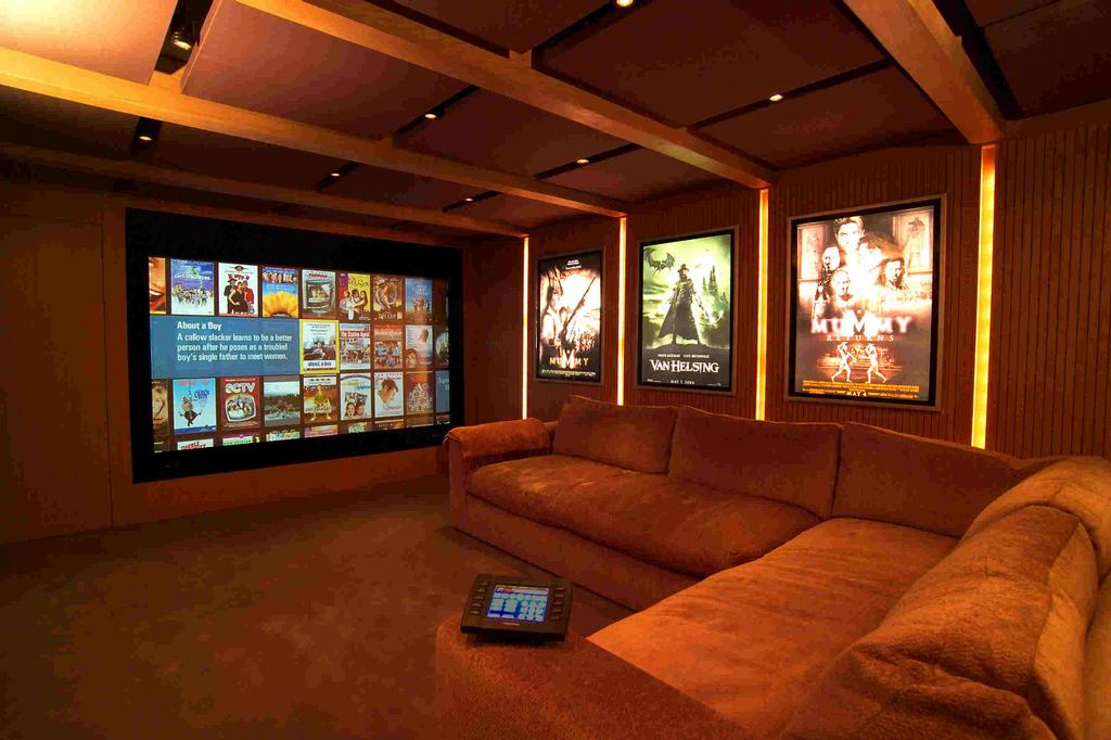 Mediaroom from dsi entertainment systems for Small home theatre design ideas