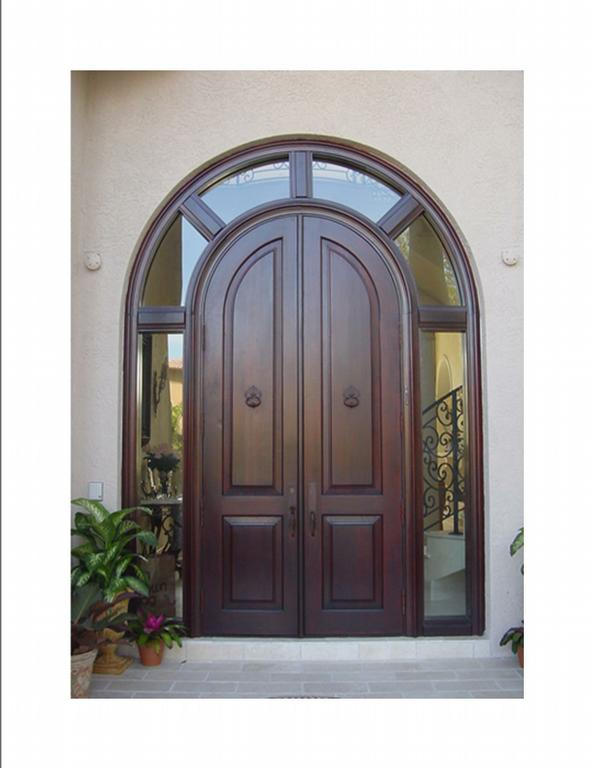 Mahogany Wrap Transom Arched Doors With Interior Doors Miami.